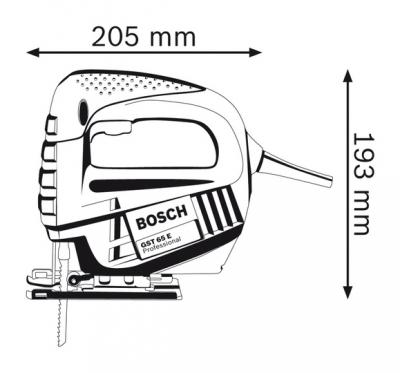 Kết quả hình ảnh cho Máy cưa lọng Bosch GST 65 E 400W (Xanh)